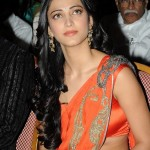 Shruti Hassan Hot in Saree @ Anaganaga O Dheerudu Audio Release