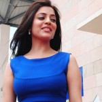 Actress Nisha Agarwal in Blue Dress Cute Hot Photos Stills