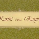 Karthik Sivakumar Marriage Invitation Card Photos