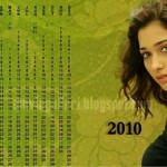 Tamil Actress 2010 Calendar Wallpapers