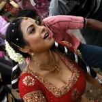 Meenakshi Hot Photos @ Red Saree