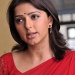 Bhumika Chawla In Red Saree