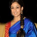 Nayanthara Blue Saree Stills