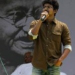 Actor Vijay fasting with Anna Hazare Stills