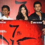 Suriya Shruthi 7th Sense Telugu Logo Launch Stills
