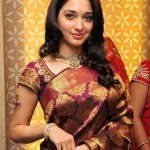 Tamanna Saree Stills @ Chennai Kalaniketan Showroom Launch