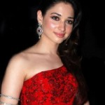 Tamanna in Red Dress Hot Stills