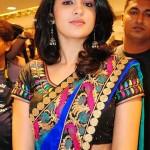 Deeksha Seth Hot in Silk Saree @ Mandir Showroom Launch