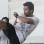 Suriya Practicing Martial Arts Stills