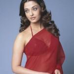 Aishwarya Rai Hot Red Saree Stills