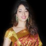 Actress Tamanna in Silk Saree Stills