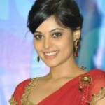 Bindu Madhavi in Red Saree Stills