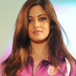 Riya Sen walks the ramp @ CCL Curtain Raiser