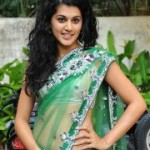 Tapsee Hot in Saree @ Shadow Movie Opening