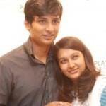 Jeeva and his wife Supriya Stills