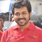 Karthi at O2 Car Rally for the Blind