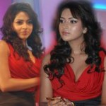 Amala Paul Hot in Red Dress
