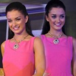 Amy Jackson in Pink Dress Stills