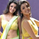 Kajal Agarwal Yellow Saree Pics