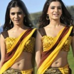 Samantha Yellow Saree Hot Pics