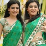 Samantha Green Saree Pics