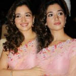 Tamanna in Saree Photos @ Racha Audio Release