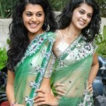 Tapsee Hot Transparent Saree Stills