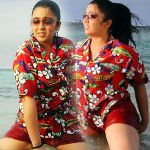 Charmi Hot in Beach Stills