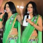 Udaya Bhanu Green Saree Stills