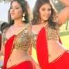 Anjali Hot Red Saree in Kalakalappu