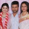 Suriya, Jyothika at Prasanna Sneha Wedding Reception Stills