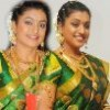 Roja in Silk Saree Stills