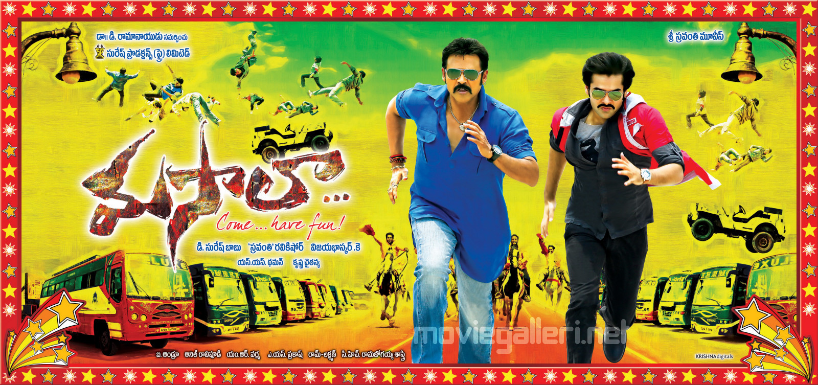 Venkatesh & Ram in Masala Movie First Look Wallpapers