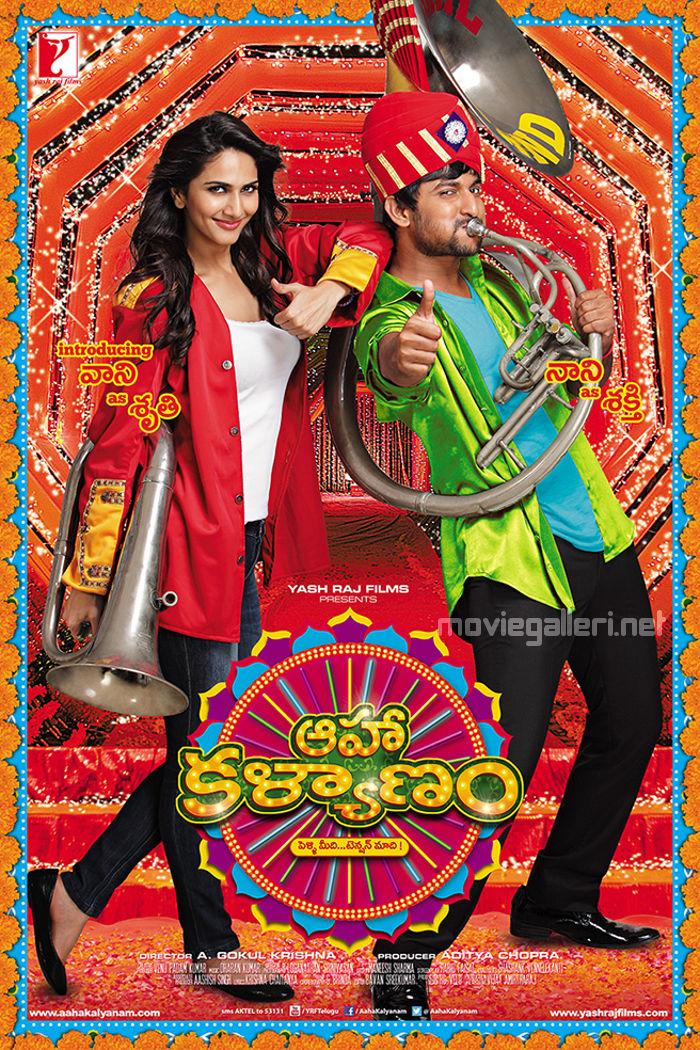 Nani & Vaani Kapoor in Aaha Kalyanam First Look Poster