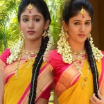 Chandini Chowdary in Silk Saree Photos