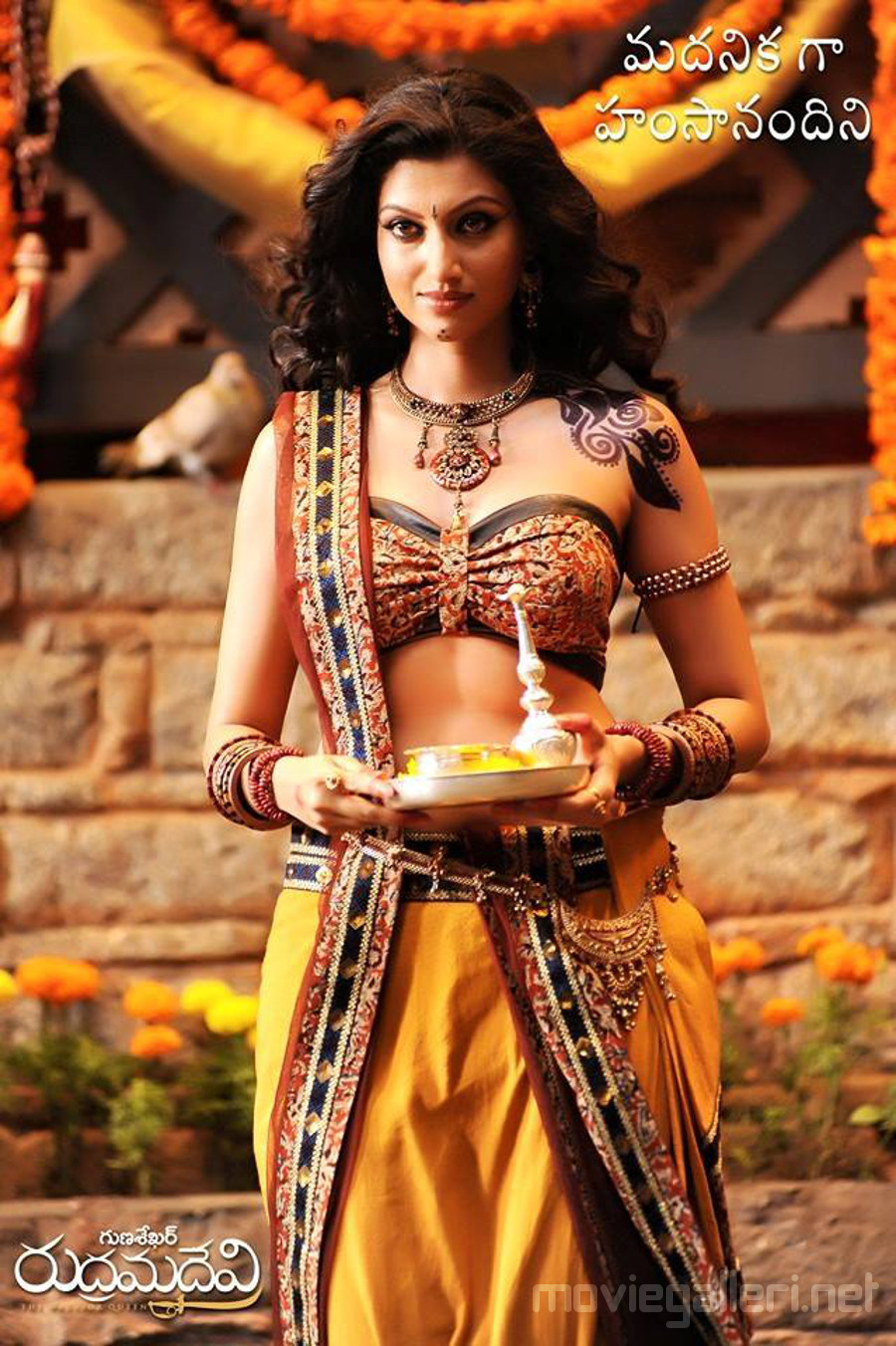 Telugu Actress Hamsa Nandini as Madhanika in Rudramadevi Movie.
