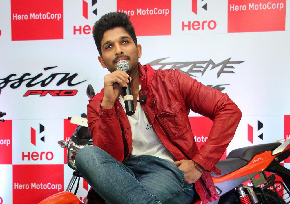 Allu Arjun launches Hero Motocorp New Xtreme Sports & Passion Pro Bikes at Taj Krishna, Hyderabad