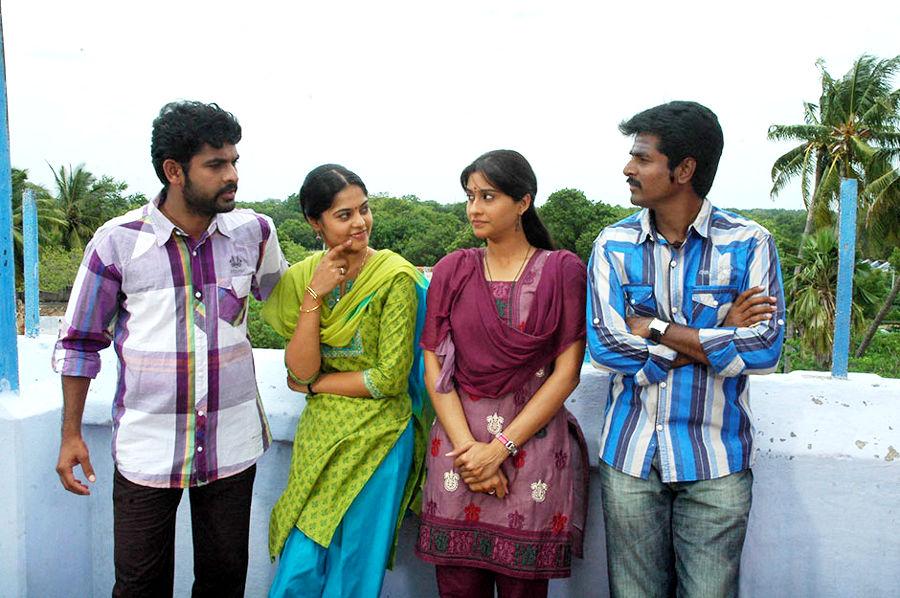 Vimal, Bindu Madhavi, Sivakarthikeyan, Regina Cassandra in Kedi Billa Kedi Ranga Telugu Movie
