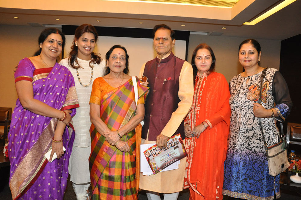 Jeevitha, Pinky Reddy, Jamuna, T.Subbarami Reddy, Jayapradha, Jayasudha @ TSR TV9 National Film Awards 2013 & 2014 Winners List Announcement Press Meet held at Park Hayat Hotel, Banjara hills, Hyderabad.