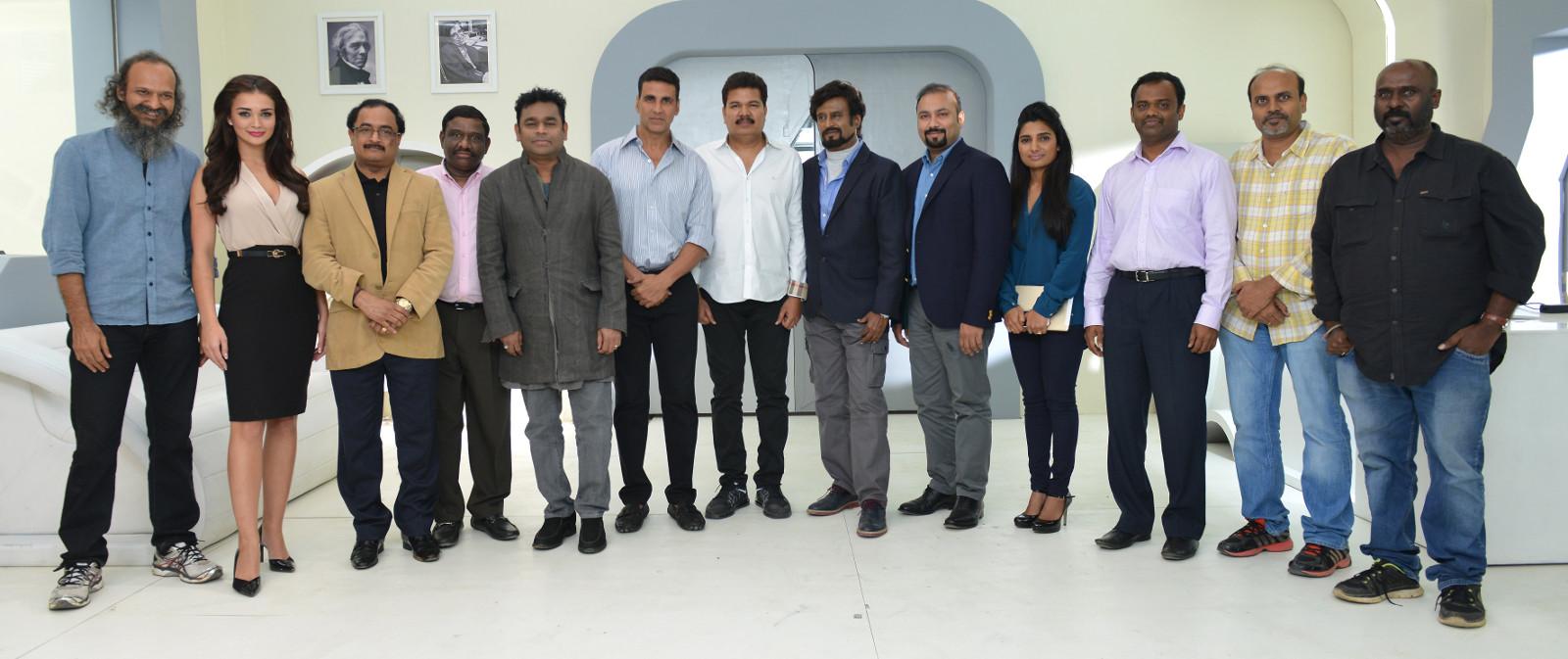 Director Shankar's 2.0 Movie Team Photo