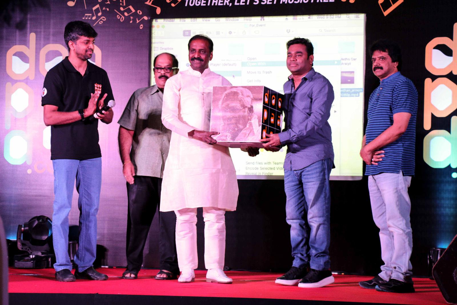 AR Rahman & Vairamuthu launched Doopaadoo