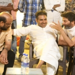 Pawan Kalyan On The Sets of A Aa Movie