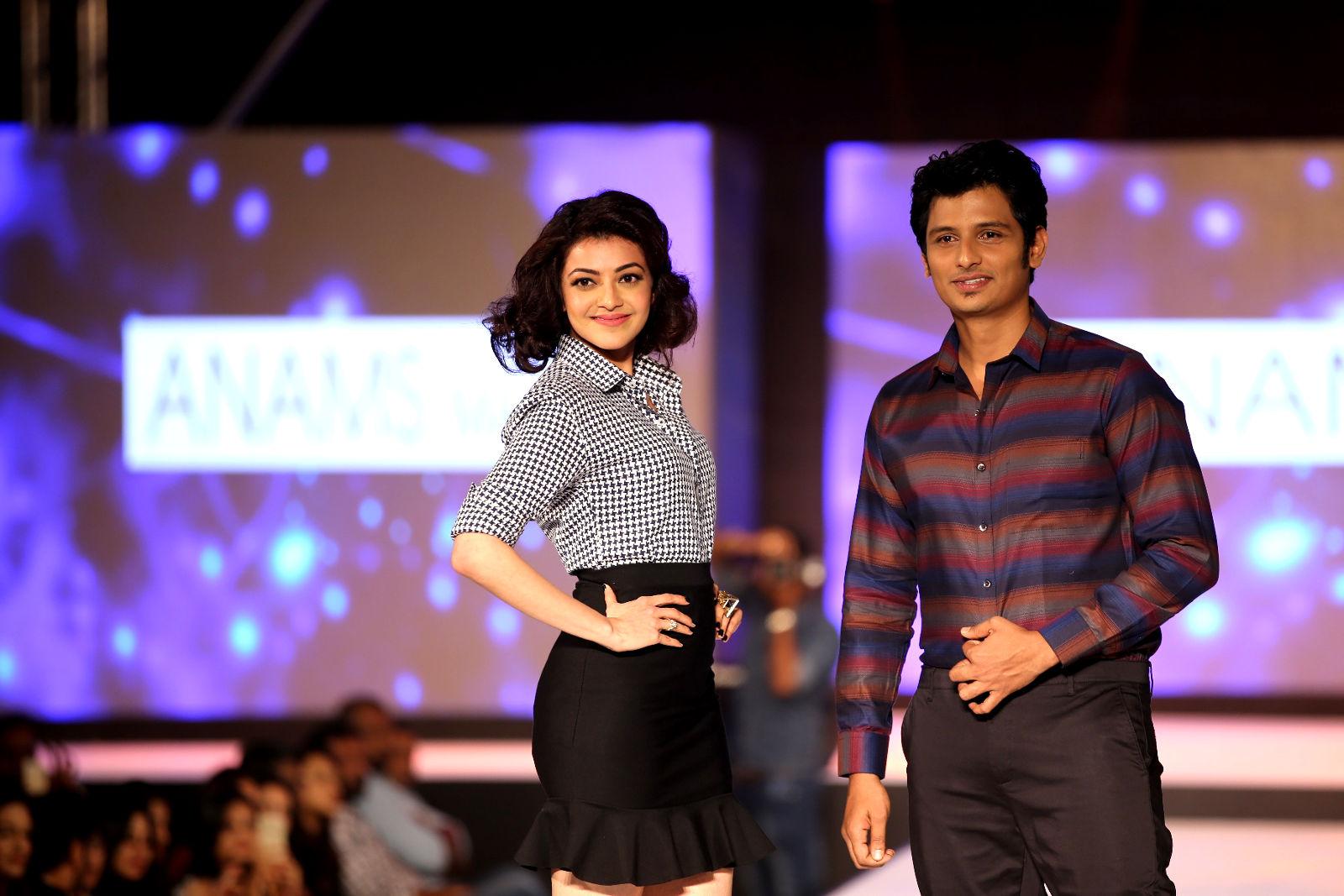 Actor Jiiva & Kajal Aggarwal - Show stoppers at ANAMS MAN & BARAKAH Spring Summer 2016 Collection Preview Fashion show- May 23rd