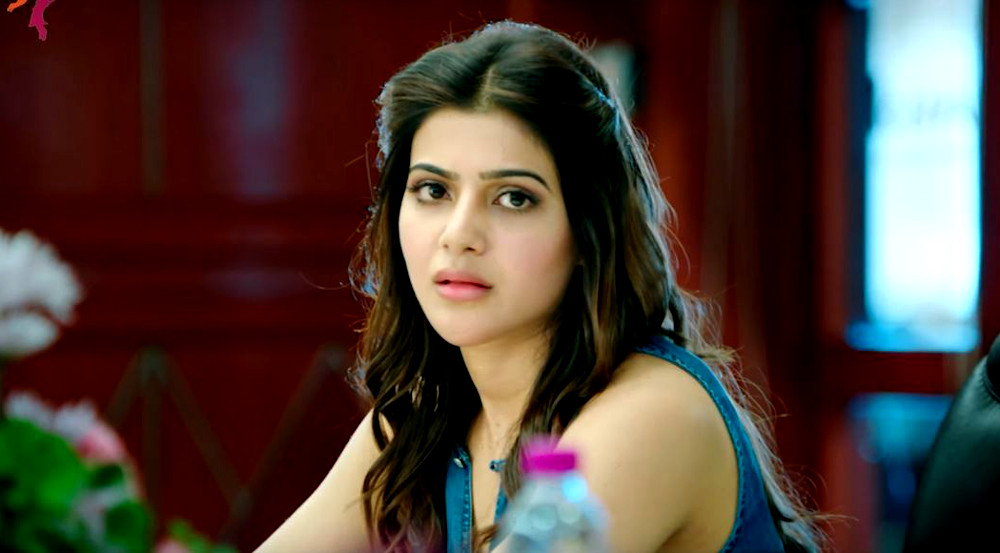 samantha starts promoting a aa in bangalore new movie posters moviegalleri net