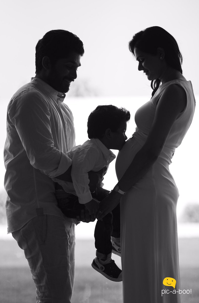 another baby for allu arjun new movie posters