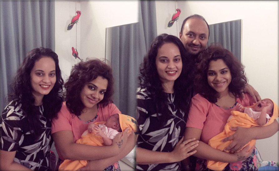 Kadhal Sandhya blessed with a baby girl