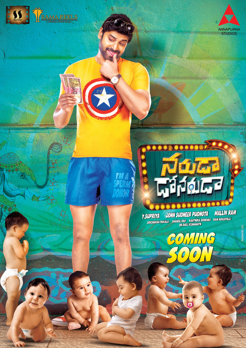 Nagarjuna Launches the first look of Sumanth's Naruda DONORuda