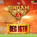 Suriya's Singam 3 Movie Release Dec 16th Poster