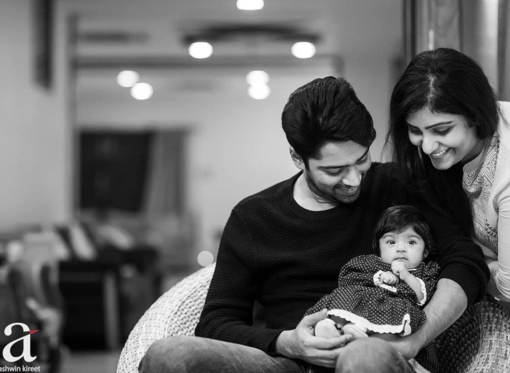 Allari Naresh releases photo of his daughter Ayana Evika Edara with wife Virupa Kantamneni