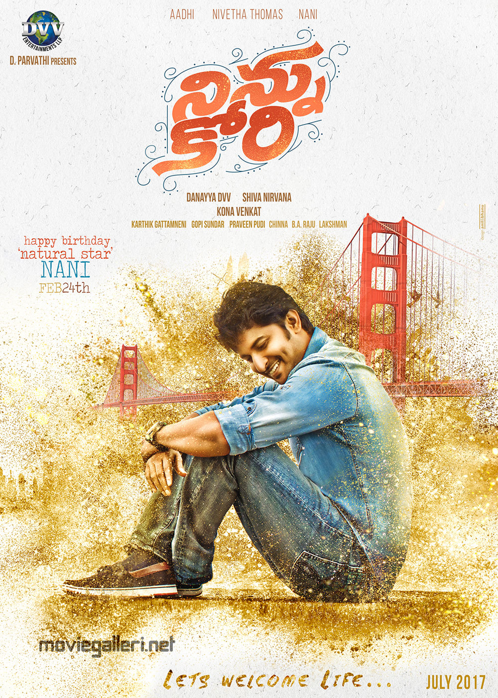 Actor Nani's Ninnu Kori Movie First Look Poster